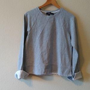 Theory gray sweat shirt t shirt